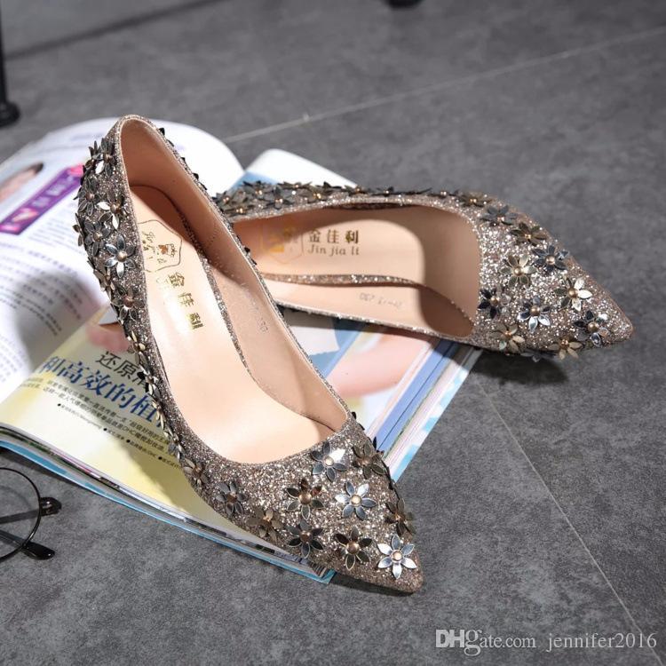 0f02e6288a04ee Großhandel GRÖSSE  35 39 NEU Damen Pumps Bling High Heels Damen Pumps  Strass High Heel Schuhe Sexy Brautschuhe Schwarz Gold Silber Von  Jennifer2016