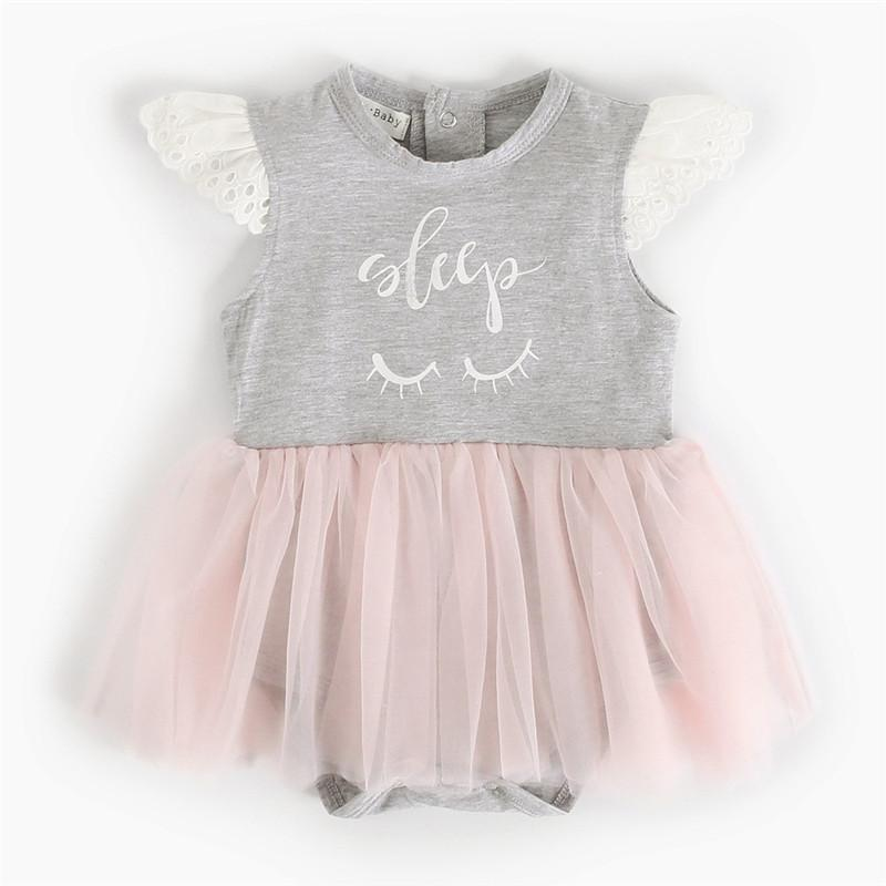 4e43739eba1 Romper Jumpsuit Kids Clothes Baby Romper Girls Dress INS Summer Baby  Princess Dress Tutu Skirt Cartoon Print Angel SleeveT32 Online with   8.3 Piece on ...