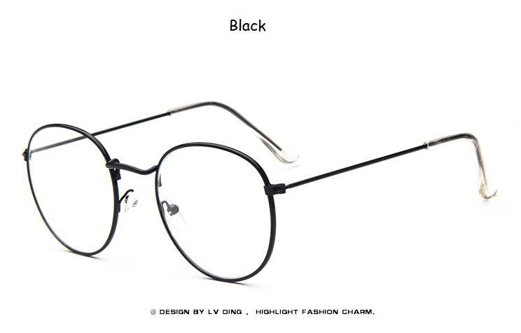 b3f3fcb1edc2d Compre Óculos De Mulher Armações De Metal Arredondado Óculos De Armação  Clara Lente Eyeware Preto Prata Ouro Olho De Vidro S1702 De Winwin2013
