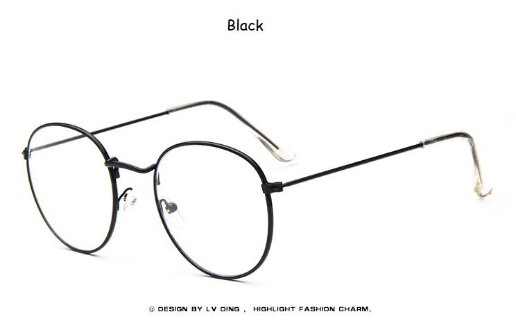 56dc7d6037 2019 Woman Glasses Optical Frames Metal Round Glasses Frame Clear Lens  Eyeware Black Silver Gold Eye Glass S1702 From Winwin2013