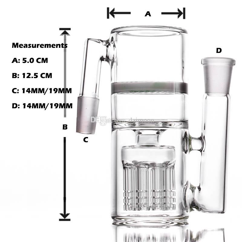White jade 8 arms water pipe ash catcher Jade honeycomb percolator smoking bong ashcather 18/14mm joint bong ash cather spare part