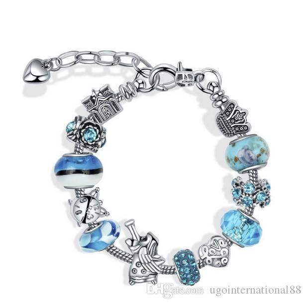 259791b4b1e5f4 Cheap Pandora Style Snake Chain Bracelets Wholesale Bracelet One Chain Ring