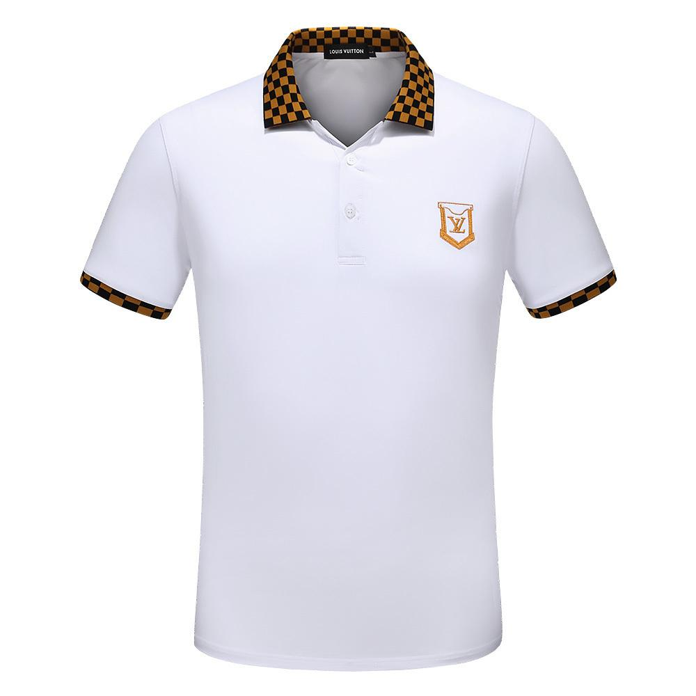 Polo Shirts For Men Elastic Hand Painting Wear Classic Design