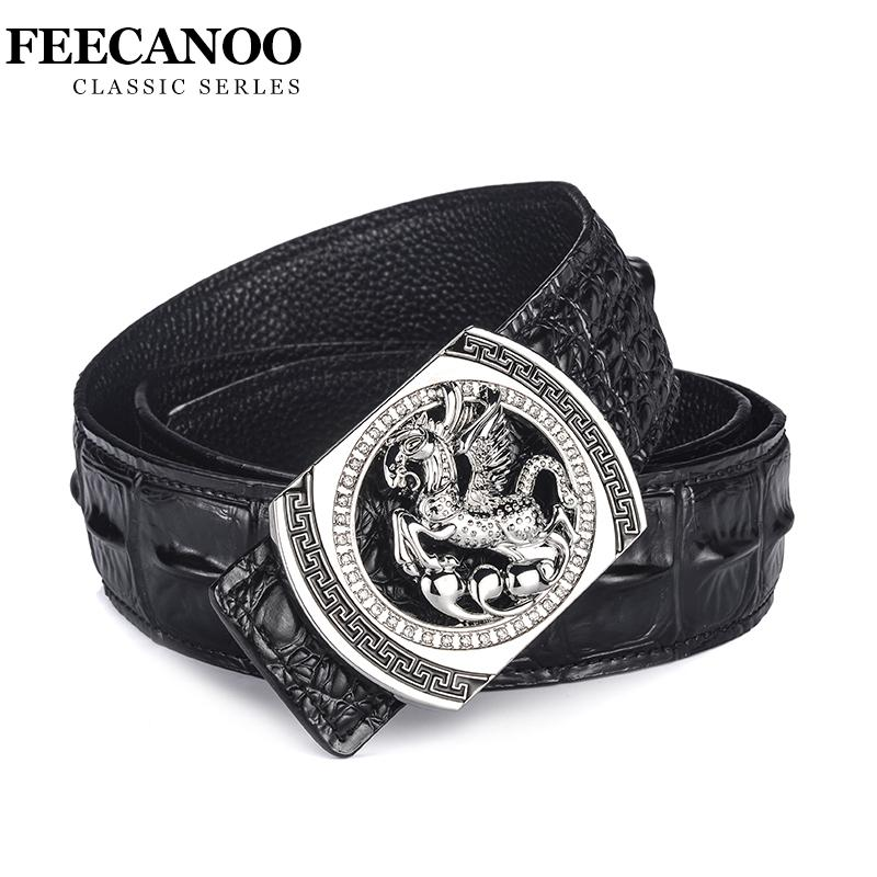 1ea986065e4 FEECANOO Designer Belts Men Luxury Famous Brand Male Genuine Leather ...