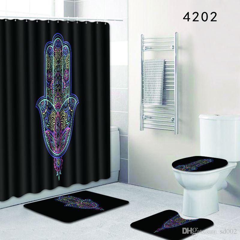 2019 Mural Shower Curtain Bath Room Sets Toilet Closestool Carpet Bathroom Pads Door Mat Eco Friendly Bardian 56dl Bb From Sd002 1888