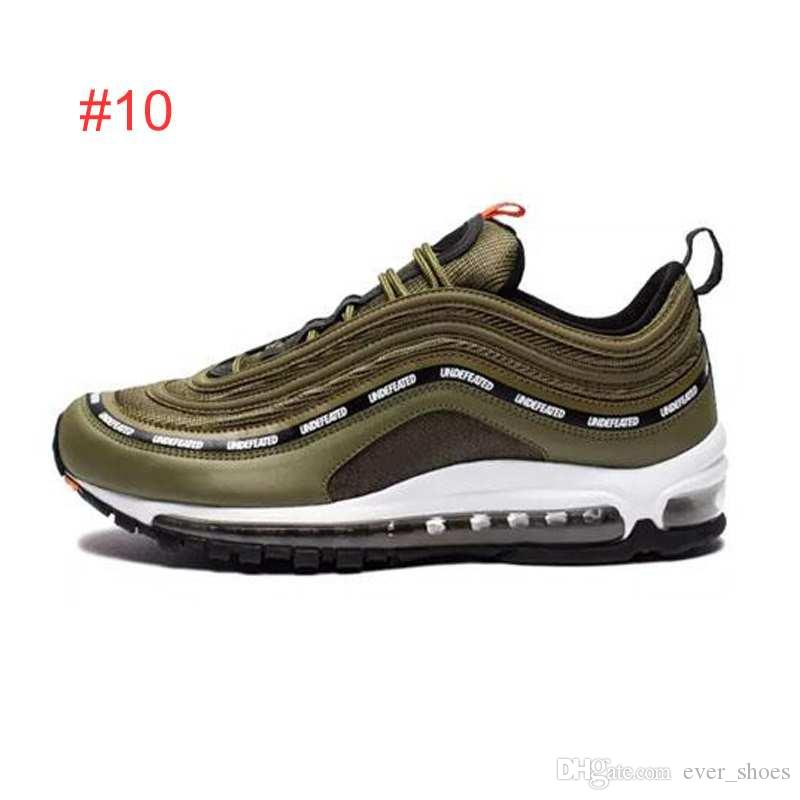 2018 Air Undefeated 97 Running Shoes Silver Bullet Gold white 97s Men women Casual Maxes Trainers Designer Sports Sneakers Chaussures