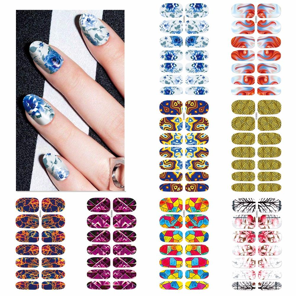 Zko 1 Sheet Optional Colorful Nail Art Water Transfer Stickers Nail ...