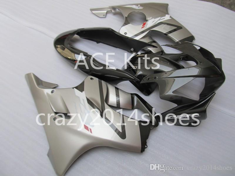 Body repair parts for HONDA CBR600F4I 2004 2005 2006 2007 Injection fairings cbr600 f4i CBR600 f4i 04-07 Silver Black gray fairing kit a6