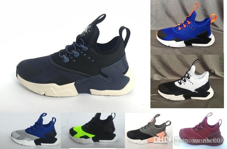 d581c7f6d8f5 Air Huarache Ultra Casual Shoes For Kids Children Sports Huarache For Boy  Girl Designer Casual Trainers Sneakers Athletic True Size 28 35 Black Shoes  ...