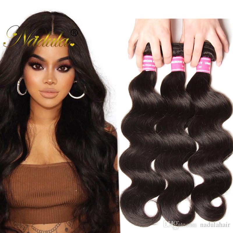 Nadula Brazilian Virgin Hair 3 Bundles Body Wave Weave Remy Human