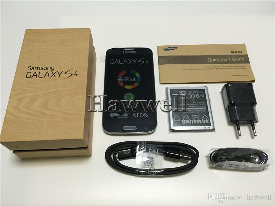 Samsung Galaxy S4 i9500 i9505 original remis à neuf 5.0 pouces Quad Core 2 Go de RAM 16 Go de ROM 13MP 3G 4G LTE Débloqué Android Smart Phone DHL