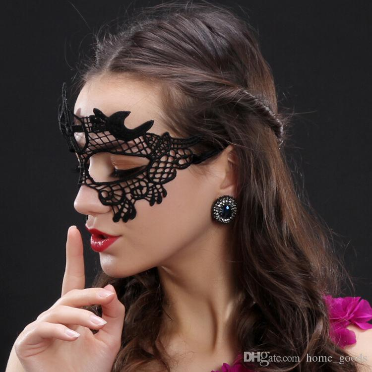 sexy Lace Mask Venetian Masquerade masks Halloween Party Decorations Half Face Lady Mardi Gras eye Masks Christmas Prom Dress Accessories
