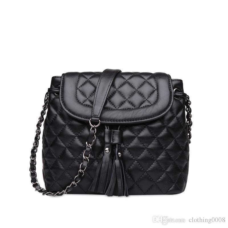 6d4b8cbd5cb6 Women Leather Handbag Luxury Shoulder Bag Genuine Leather Crossbody ...