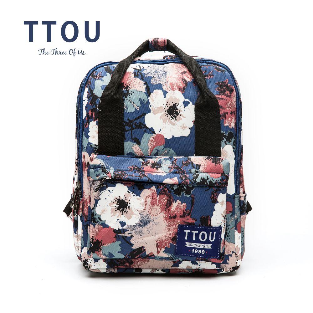 4d48941c22fe TTOU Flower Canvas Backpack Women College Preppy School Bags For Teenagers  Girls Large Capacity Printing Rucksack Travel Bags Osprey Backpacks Book  Bags ...