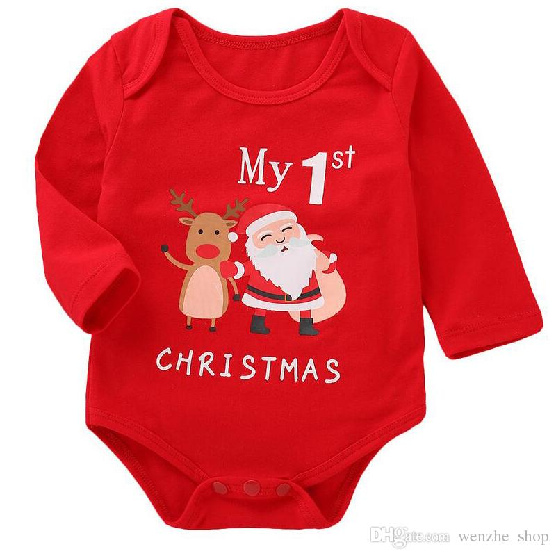 9a2c4d3d665a1 Newborn Infant Christmas Baby Girl Boys Rompers Jumpsuit Clothes ...