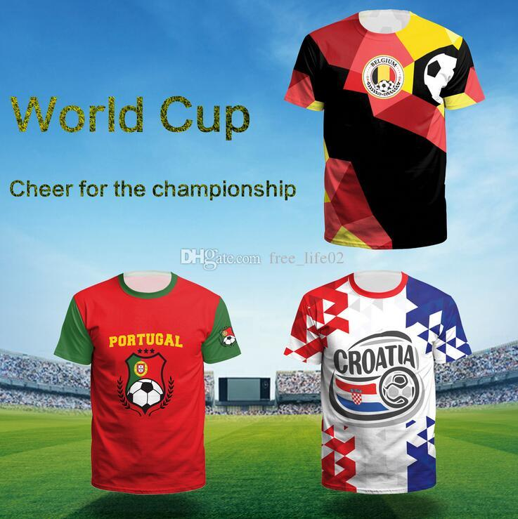 4e3d43d82e2 2019 Wholesale 2018 World Cup Men T Shirt Leisure T Shirt World Cup Printed T  Shirts Summer Outdoor Casual Tee Shirts From Free life02