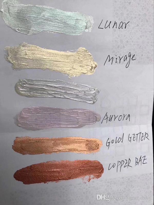 높은 품질의 메이크업 새로운 도착 눈물 신비로운 형광펜 액상 아이섀도 쉬머 6 색 일루미네이터 액체 형광펜