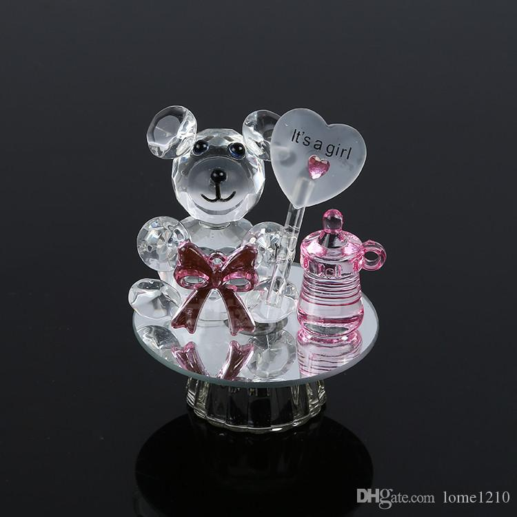 K5 Crystal Bear Nipple Baptism Baby Shower Souvenirs Party Christening Giveaway Gift For Guest