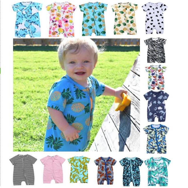 036f77043 INS Baby Boys Girls Cotton Romper Stripe Floral Fruit Lepoard ...