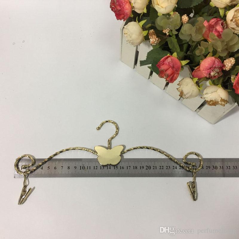 Mode Schmetterling Metall BH Bügel Kleiderbügel Twined Linien Unterwäsche Dessous Trockengestell mit Kleidung Pins 28cm ZA5909