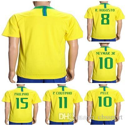 2018 mens womens kids custom 2018 world cup brazil home soccer jerseys 8 r. augusto 10 neymar jr 10 pele 11 p.coutinho 15 paulinho jerseys from cbsspo