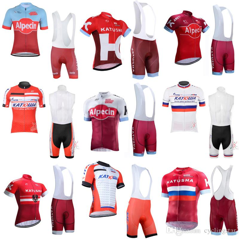 2018 New Katusha Team Cycling Jersey Set Bike Clothing Ropa Ciclismo  Breathable Short Sleeve Cycling Clothing For MTB Sportswear F0801 Cycling  Clothes ... 717c2038e