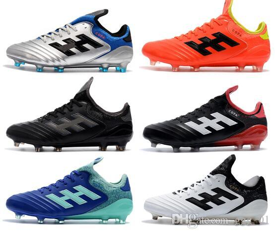 ed4f1a496b2dc Compre 2018 New Style Mens Leather Leather Cleats Copa 18.1 FG Zapatos De  Fútbol Copa Mundial 18 Chaussures De Football Boots Scarpe Calcio A  80.11  Del ...