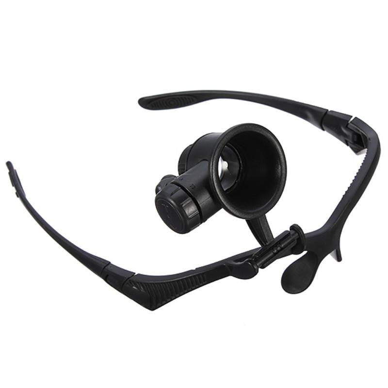Hot Selling 10x 15x 20x 25x Headband Single-eye Watch Repair LED Magnifier Magnifying Loupe Watch Repair Tool