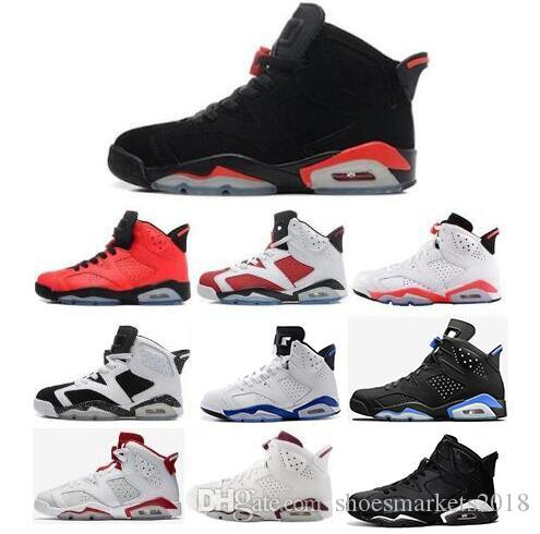 2d3b31fa765 2018 Cheap 6 6s Mens Basketball Shoes Man Unc Black Cat Infrared Sports  Blue Maroon Olympic Alternate Hare Oreo Angry Bull Sports Sneakers  Comfortable Shoes ...