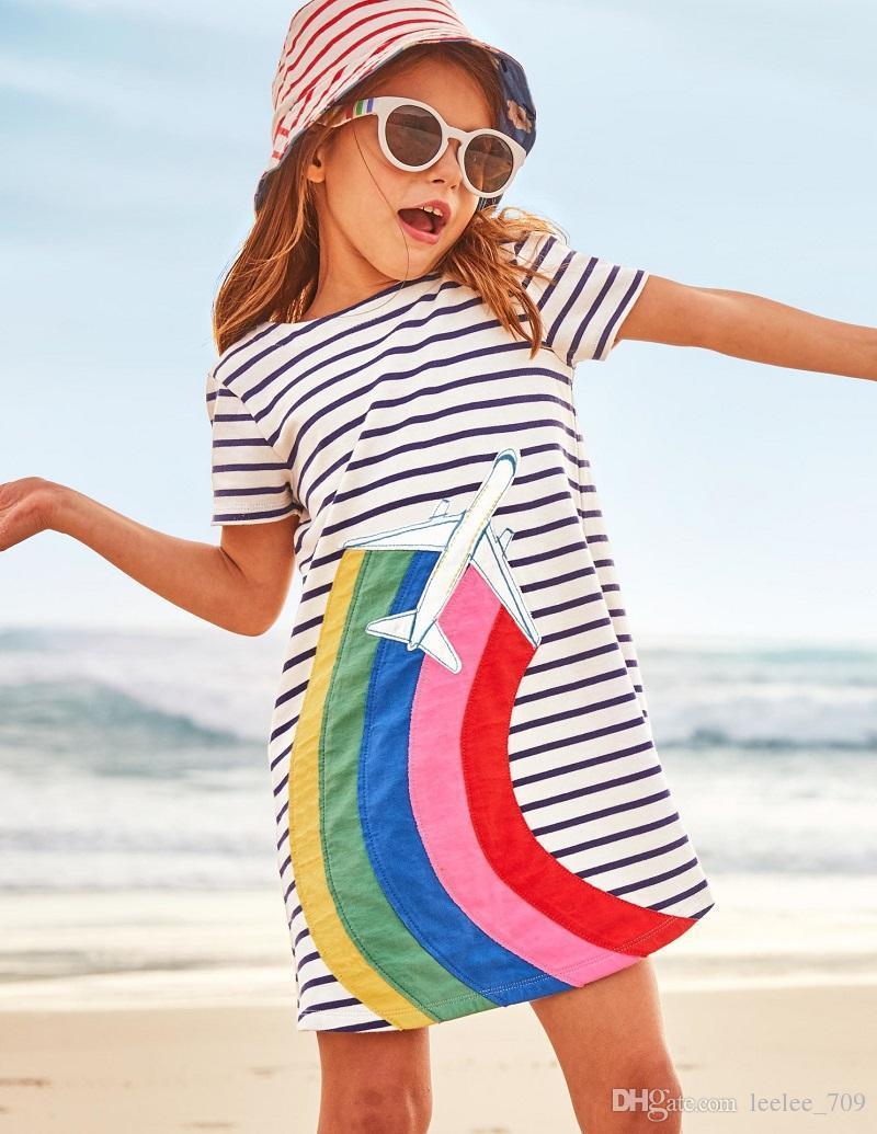 Sommer Mädchen Kleid Einhorn Tiere Kleinkind Party Kleid europäischen amerikanischen Stil Baby Mädchen Kleidung Großhandel Kleid