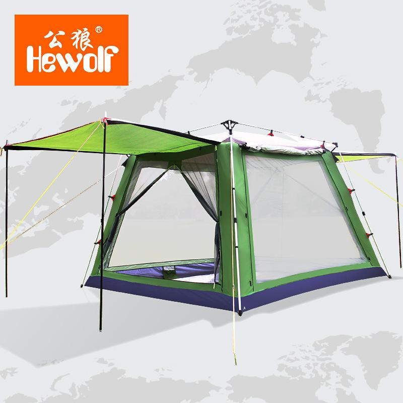 5 8 Poeple Large Luxury Outdoor Beach Tent Camping Portable Party Awning Waterproof Park Ultralarge Automatically Open Tente Best Tents For 2 Man