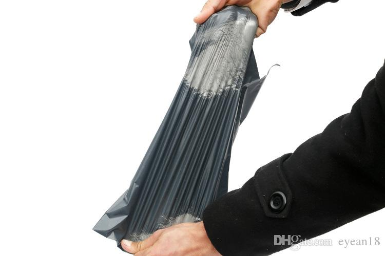Alta calidad 17x29cm autoadhesivo poli autoextraíble bolsas de envío urgente mensajería postal bolsa de plástico envolvente correo postal posterior Mailer bolsa