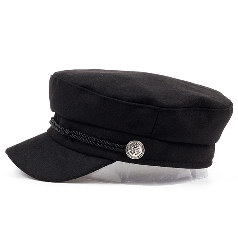 VORON new navy Cap Hat Female Winter Hats For Women Men Ladies Army Militar  Hat wool Visor Black Cap Sailor Bone Male