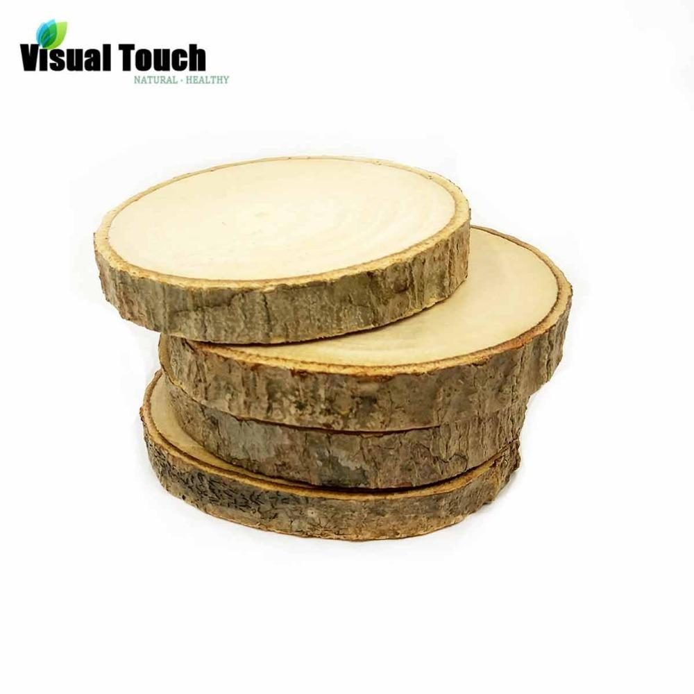 2018 Visual Touch Primitive Round Wood Wooden Cup Mat Coasters ...