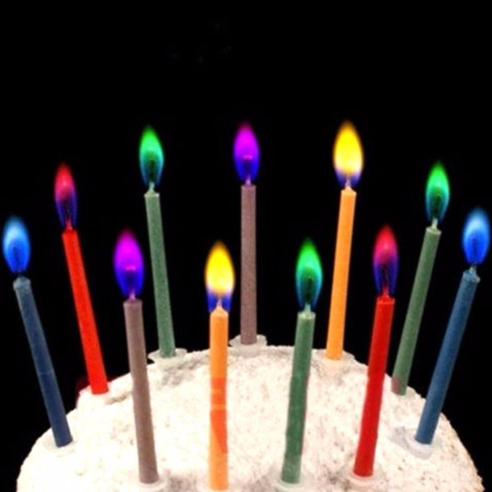 Colored Birthday Candles Safe Flames Candle Party Festivals Cake Topper Decorations Bougie Anniversaire Velas Soy Cheap For Sale From