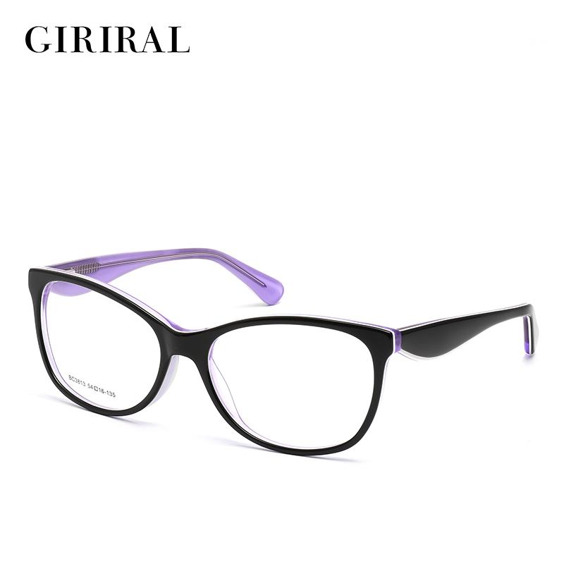 504e13749cf5 2019 Acetate Women Eyeglass Frames Round Designer Optical Brand Myopia  Clear Spectacles  BC3813 From Kuchairly