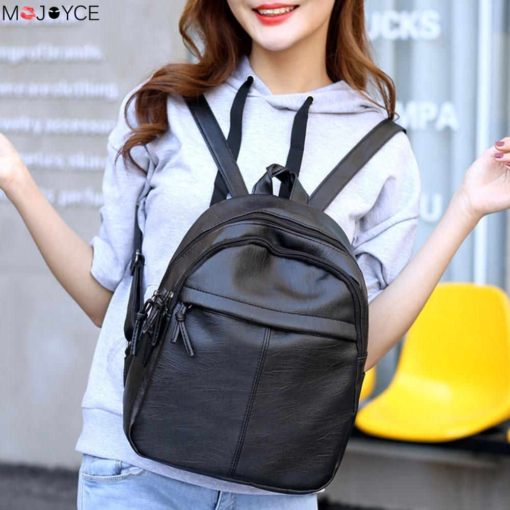 895366946eaa New Travel Backpack Korean Women Backpack Leisure Student Schoolbag Soft PU  Leather Women Bag Dakine Backpacks Back Pack From Faaa