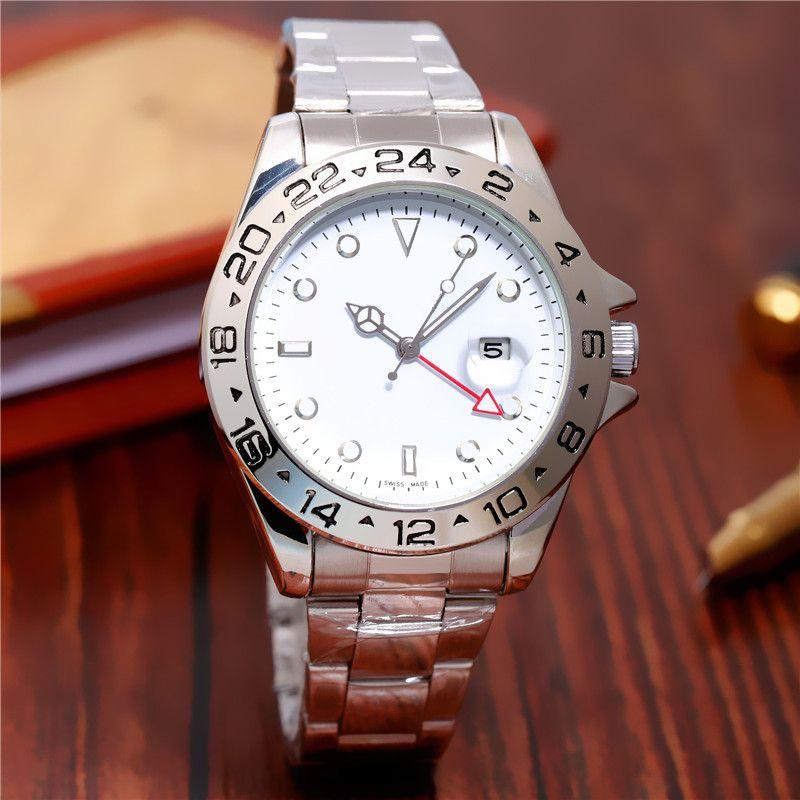 183cb72caa4 Compre 44 MM EXPLORER RROL Relogio Homens Relógio De Ouro De Luxo Mens  Relógio De Marca Daydate Presidente Relógio De Pulso Vermelho Negócios  Reloj Grande ...