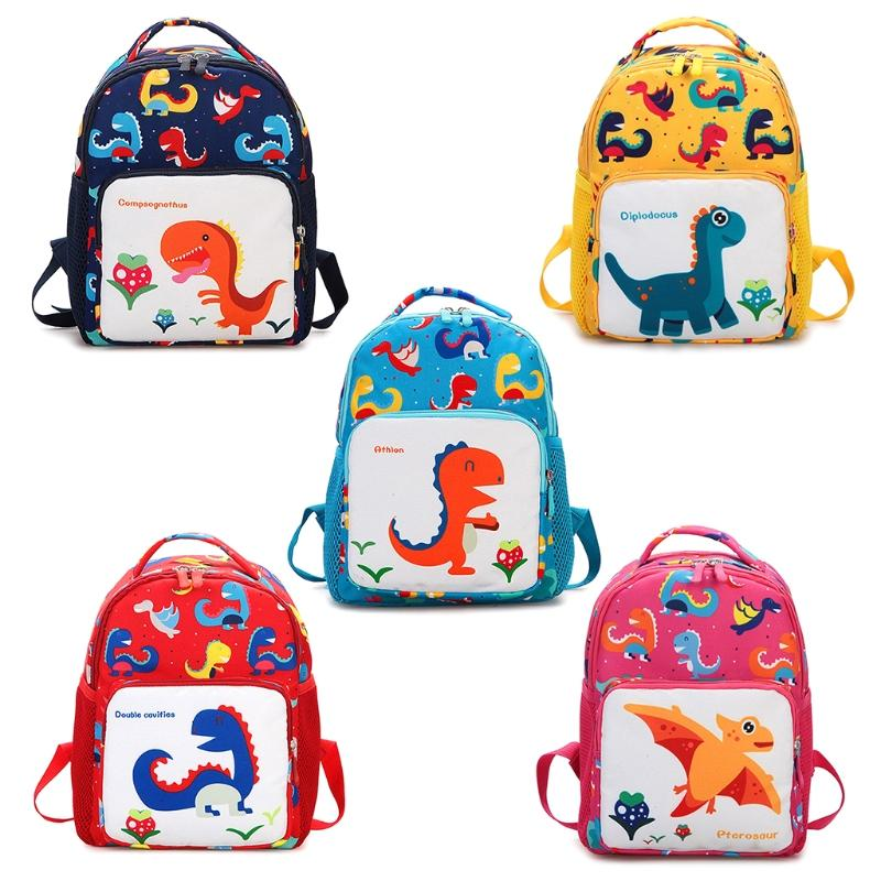 ea5b27dec8f4 Toddler Backpack Anti Lost Band Kids Children Cartoon Dinosaur Print School  Bag Girls Backpacks Drawstring Backpack From Wangbeiche