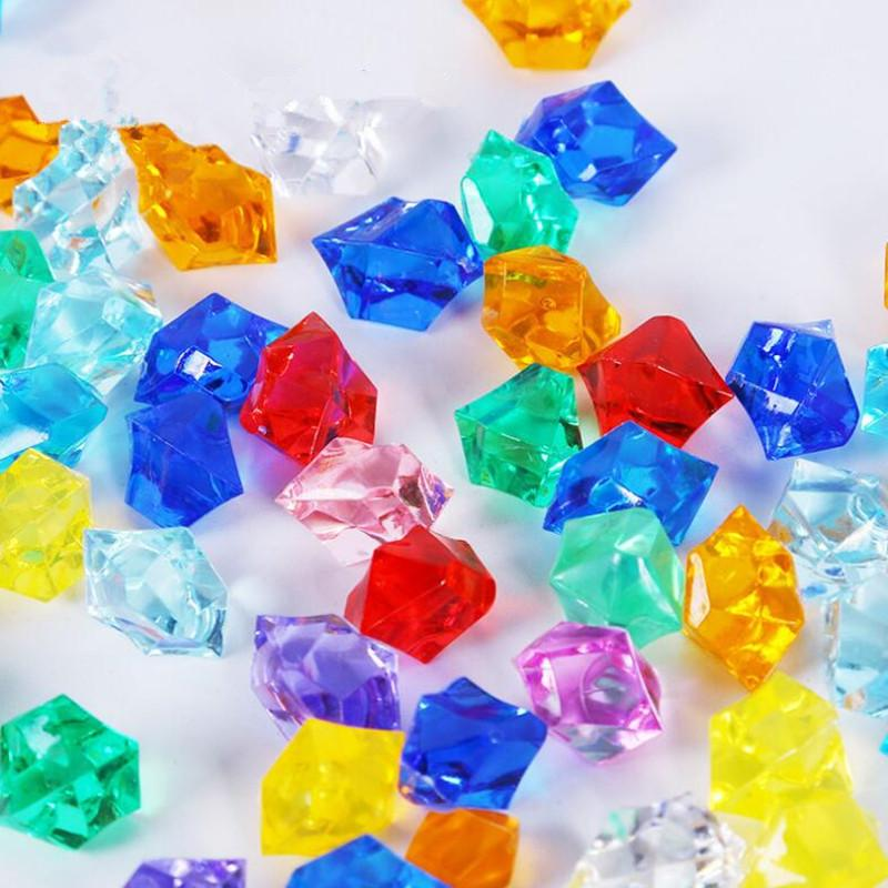 Pirate Jewels Treasure Acrylic Crystal Gems Irregular Gravel Kids Children Pirate Party Toys Props Birthday Party Favors