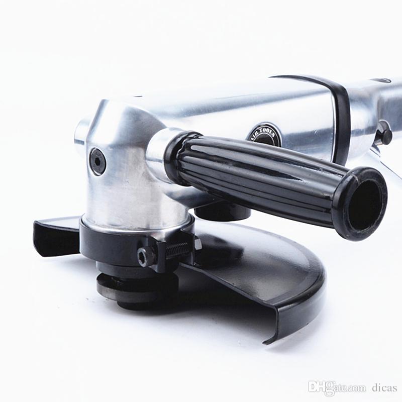 Livraison gratuite 7 pouce pneumatique meuleuse air ponceuse vent meuleuse 180mm polisseur à gaz épilation à la cire ponçage outil