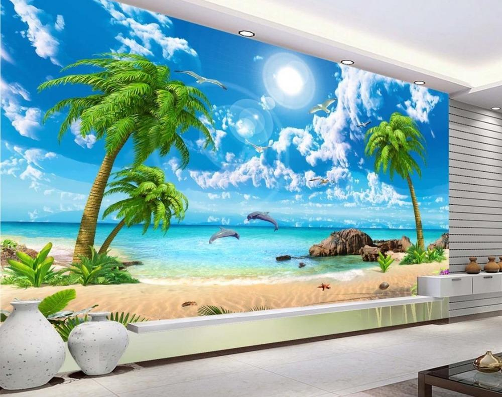 wholesale wallpaper scenery for walls custom 3d background