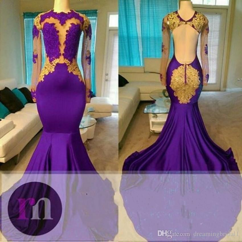 Purple Prom Dresses 2018