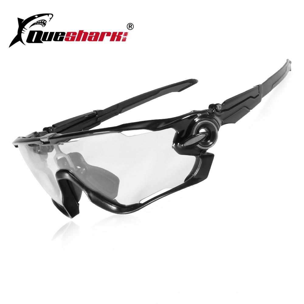 c1d0904e79 2019 Queshark Photochromic Cycling Sunglasses Bike Eyewear Bicycle Glass MTB  Road Bike Polarized New Design 4 Lens From Sunnystars