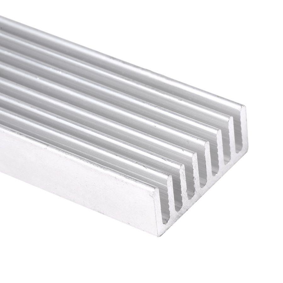 DIY Soğutucu Alüminyum Soğutucu Isı Emici Çip 100 * 25 * 10mm IC LED Güç Transistör için