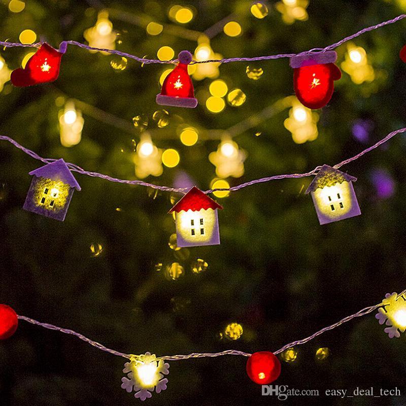 07e04e4939d Compre Árbol De Navidad LED Luz De La Lámpara De Franela Con Colgante  Atmósfera De Navidad Adornos Árbol De Navidad Fiesta De Cumpleaños Home  Decoracion ...