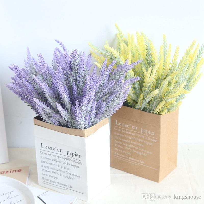 2018 hot sale romantic artificial lavender flowers colorful silk 2018 hot sale romantic artificial lavender flowers colorful silk artificial flowers real touch fake flora for wedding home decoration from kingshouse mightylinksfo
