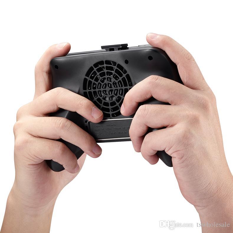 4,5-6,8 inç Cep Telefonları için yayılır Güç Bankası Fan Cooler Şarj ile 1 Telefon Gamepad Tutucu Kolu Çok fonksiyonlu 3