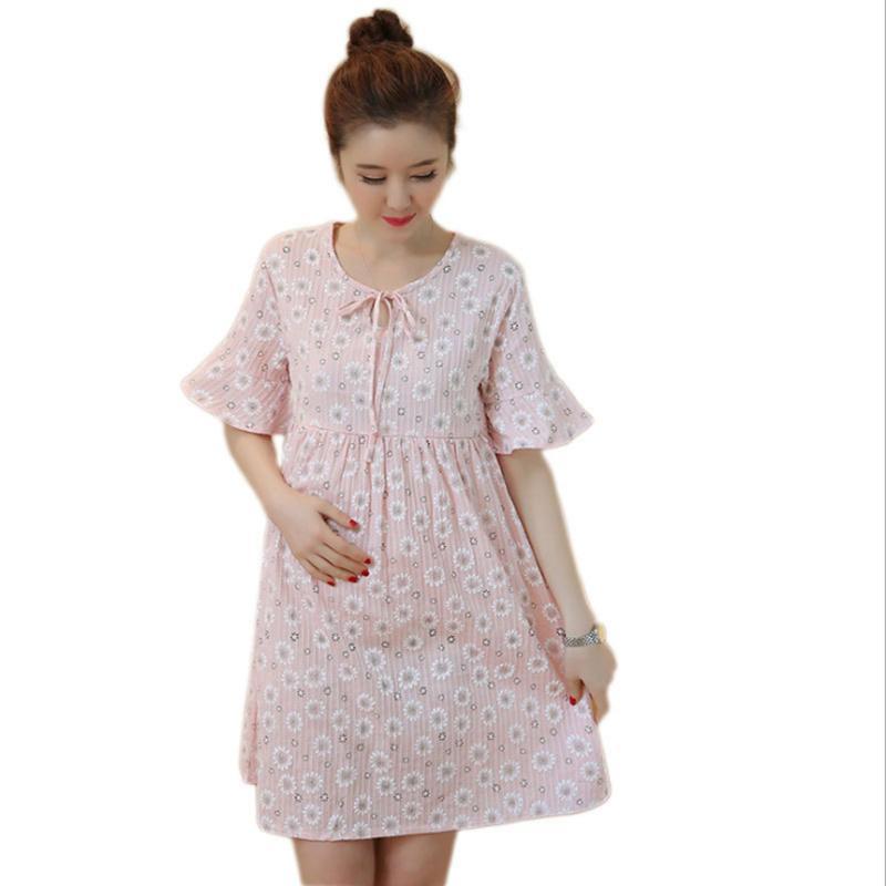 2019 Maternity Dress Clothing Pregnant Dresses For Home Nursing Mother  Pregnancy Women S Dress Breastfeeding Dress Vestido From Anglestore 7ab8c9df53a7