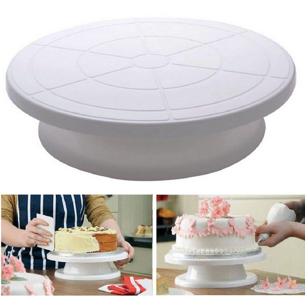 Cake Making Turntables Anti-skid Plastic Rotating Decorating Platform Stand Display Cake Rotary Tables